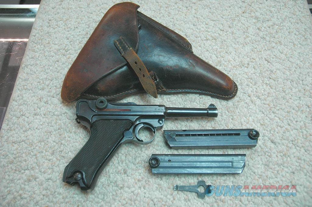 BYF Black Widow Luger w/ 2 Mags and holster (1941)  Guns > Pistols > Luger Pistols