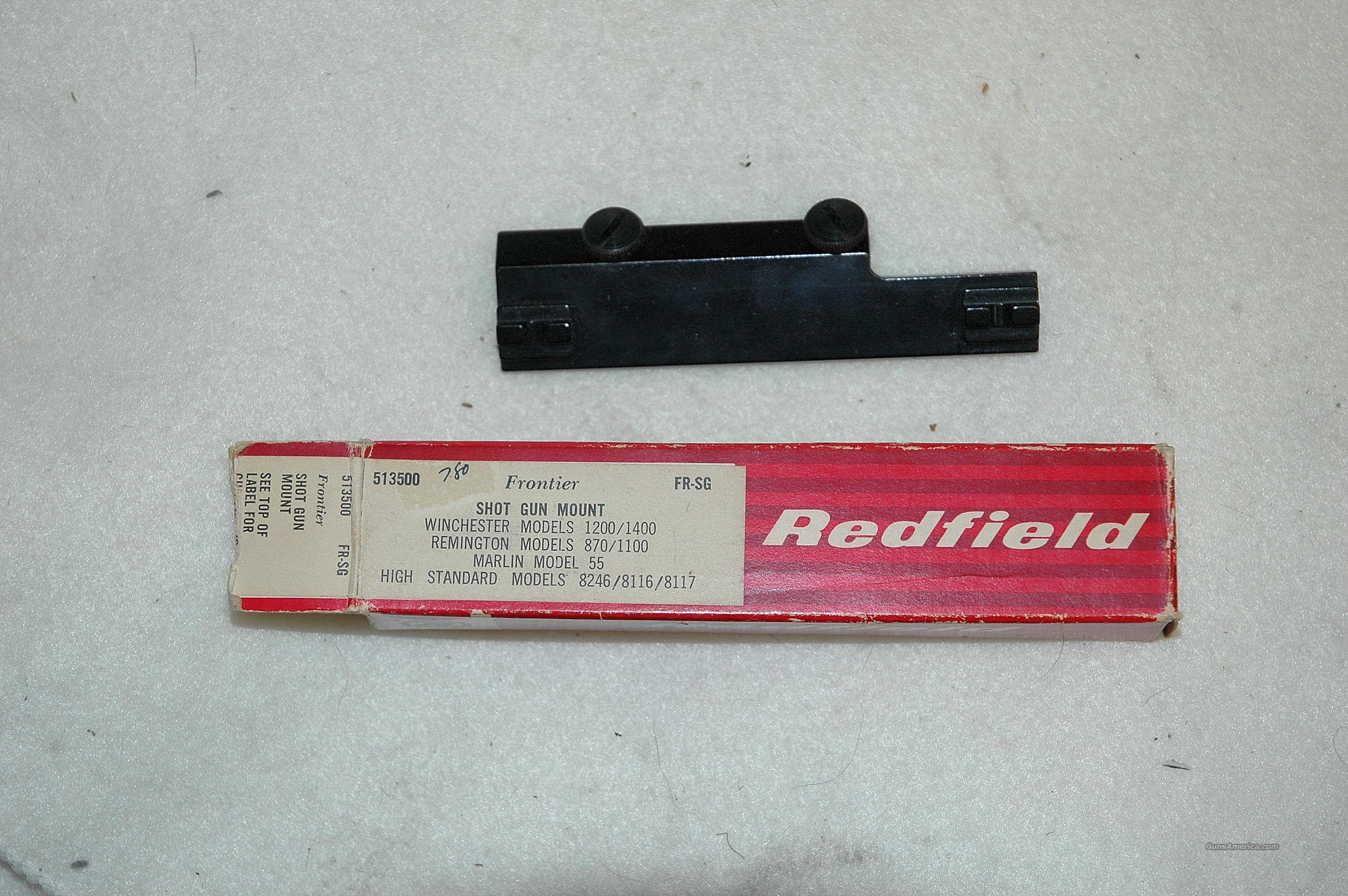 Redfield mount for Multiple Shotguns  Non-Guns > Scopes/Mounts/Rings & Optics > Mounts > Other