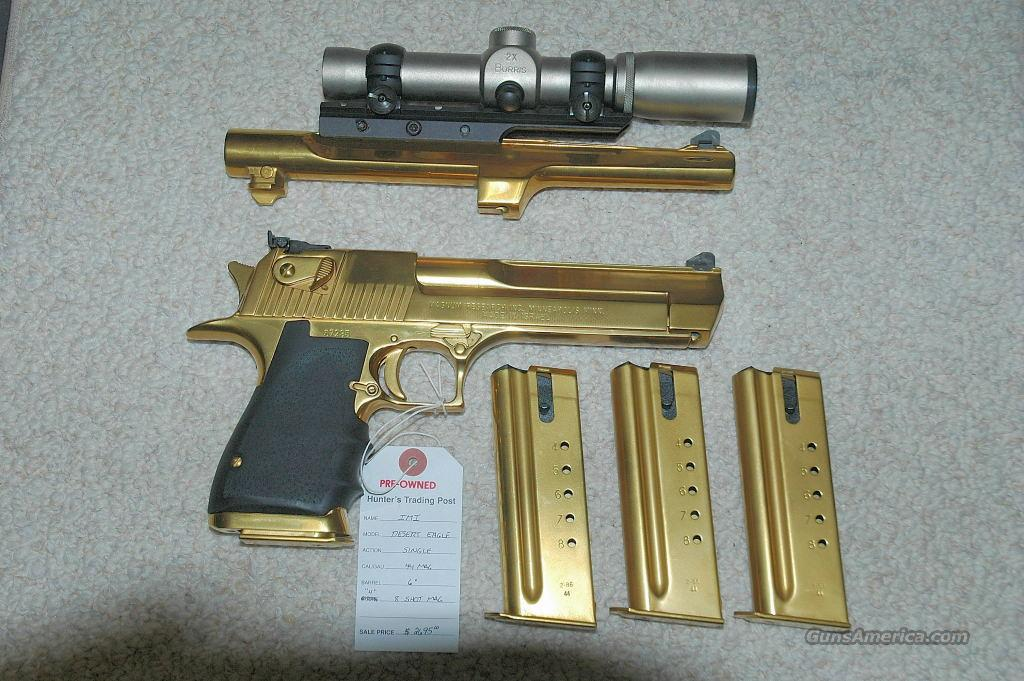 Desert Eagle 44 Magnum Gold Plated for sale
