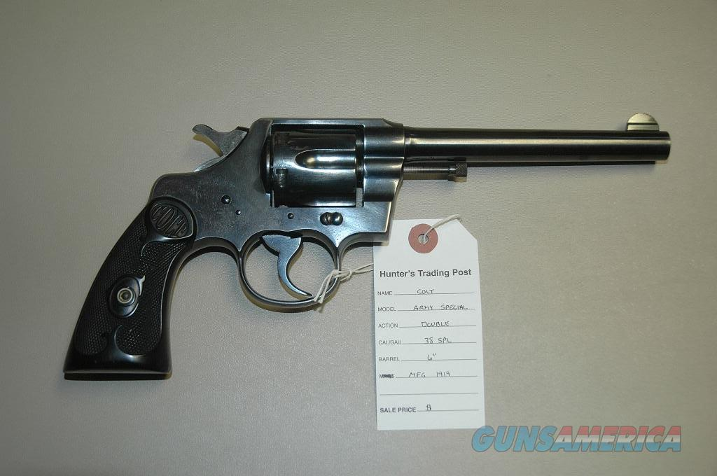 Colt Army Special Mfg 1919 38 Special  Guns > Pistols > Colt Double Action Revolvers- Pre-1945