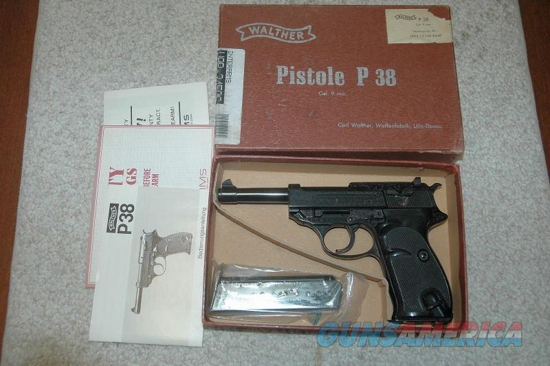 Walther P38 Factory Engraved Mfg 1971  Guns > Pistols > Walther Pistols > Post WWII > P38