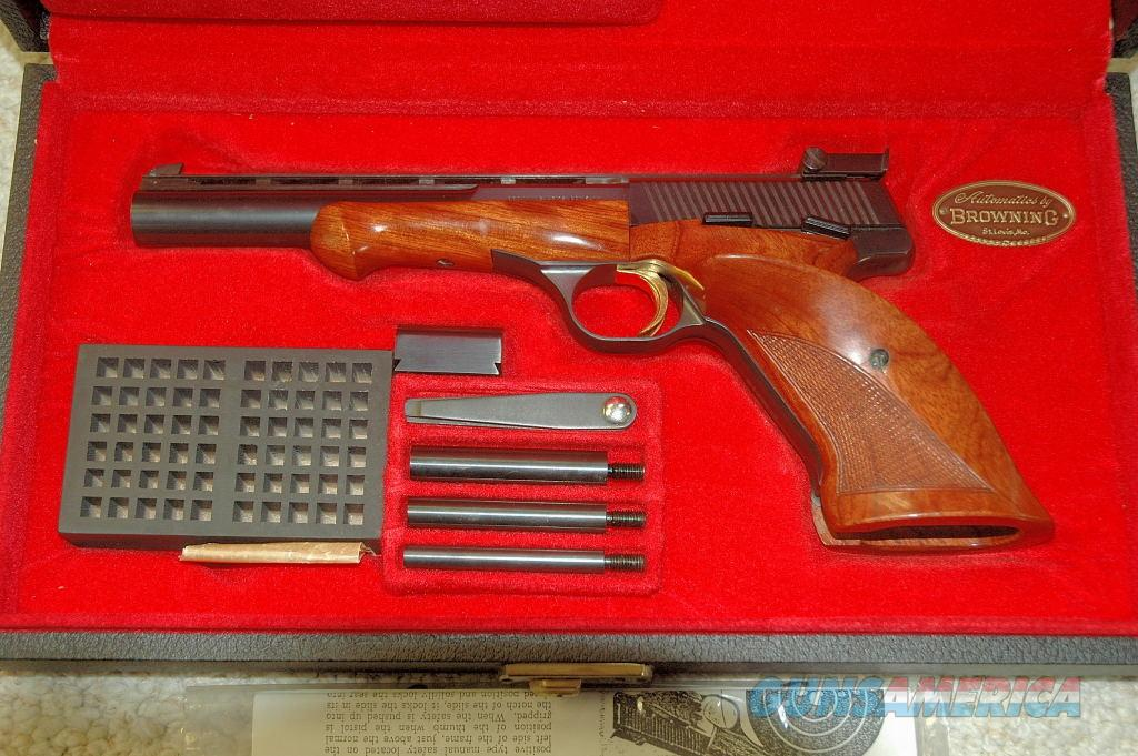 Browning Medalist complete set with box (1974)  Guns > Pistols > Browning Pistols > Other Autos