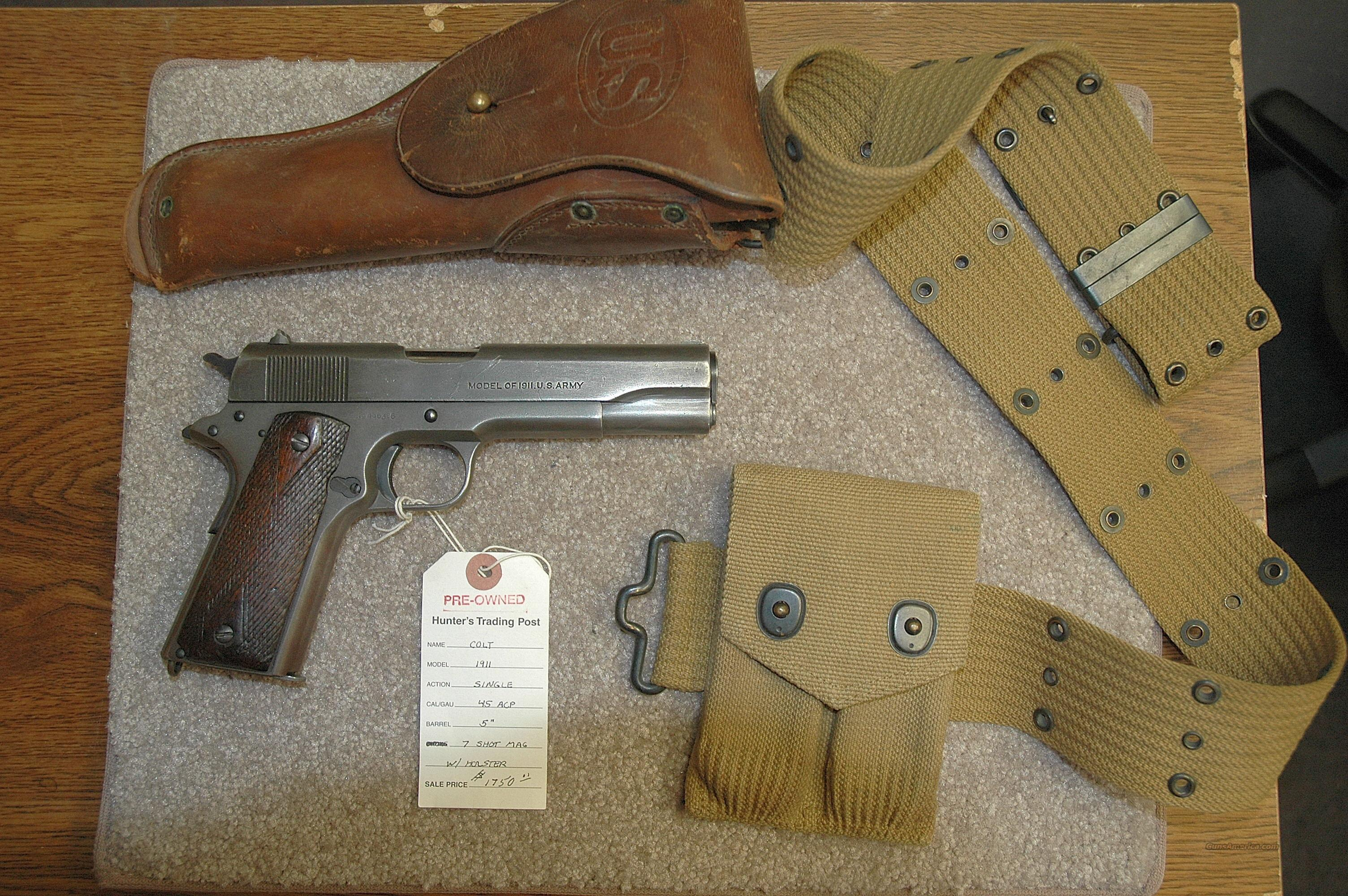 Colt 1911 w/belt and holster  Guns > Pistols > Colt Automatic Pistols (1911 & Var)