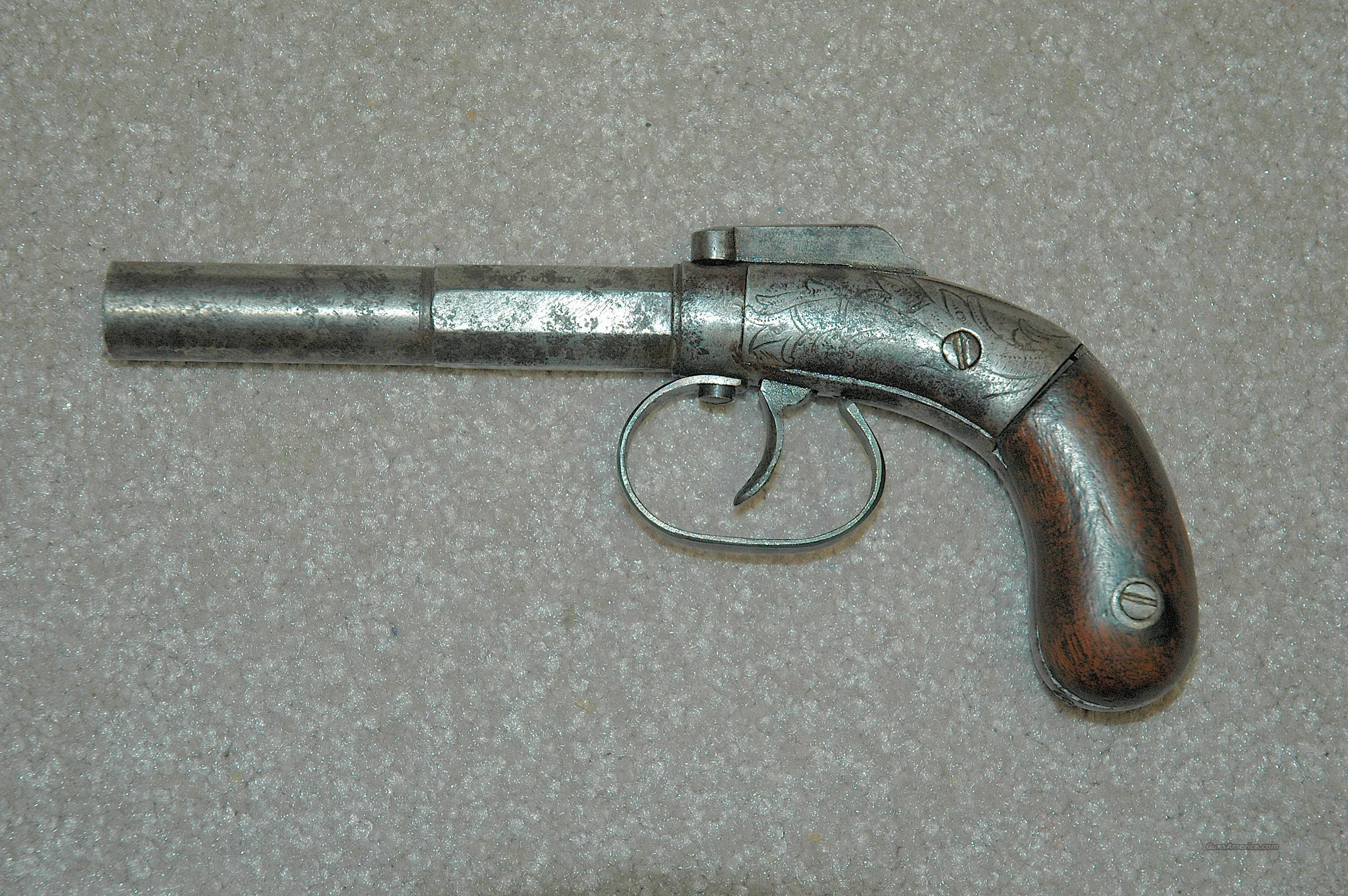 Bacon Arms Single Shot Bar Hammer Pistol  Guns > Pistols > Antique (Pre-1899) Pistols - Perc. Misc.