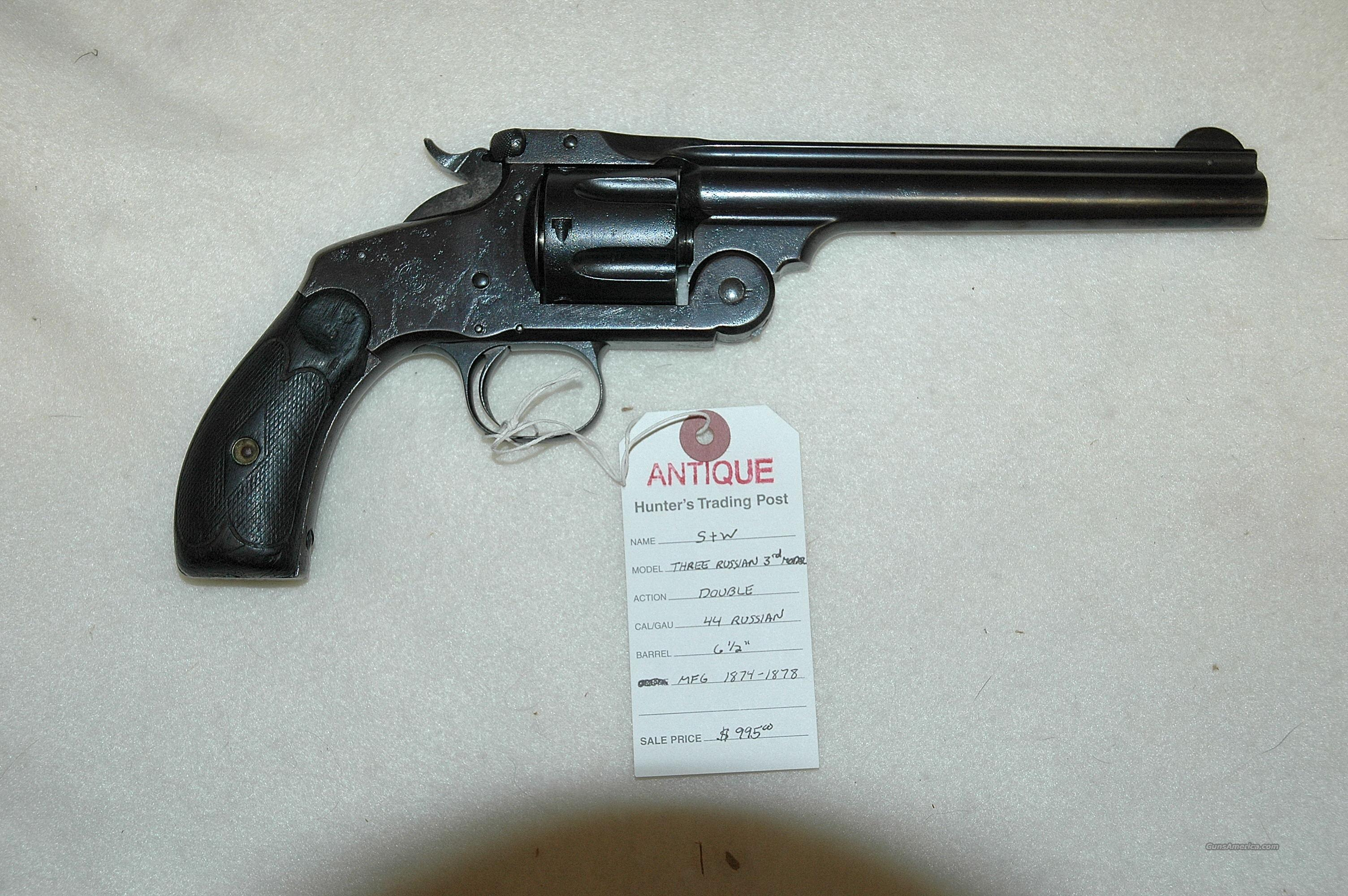 S&W 3 Russian 3rd Model  Guns > Pistols > Smith & Wesson Revolvers > Pre-1899