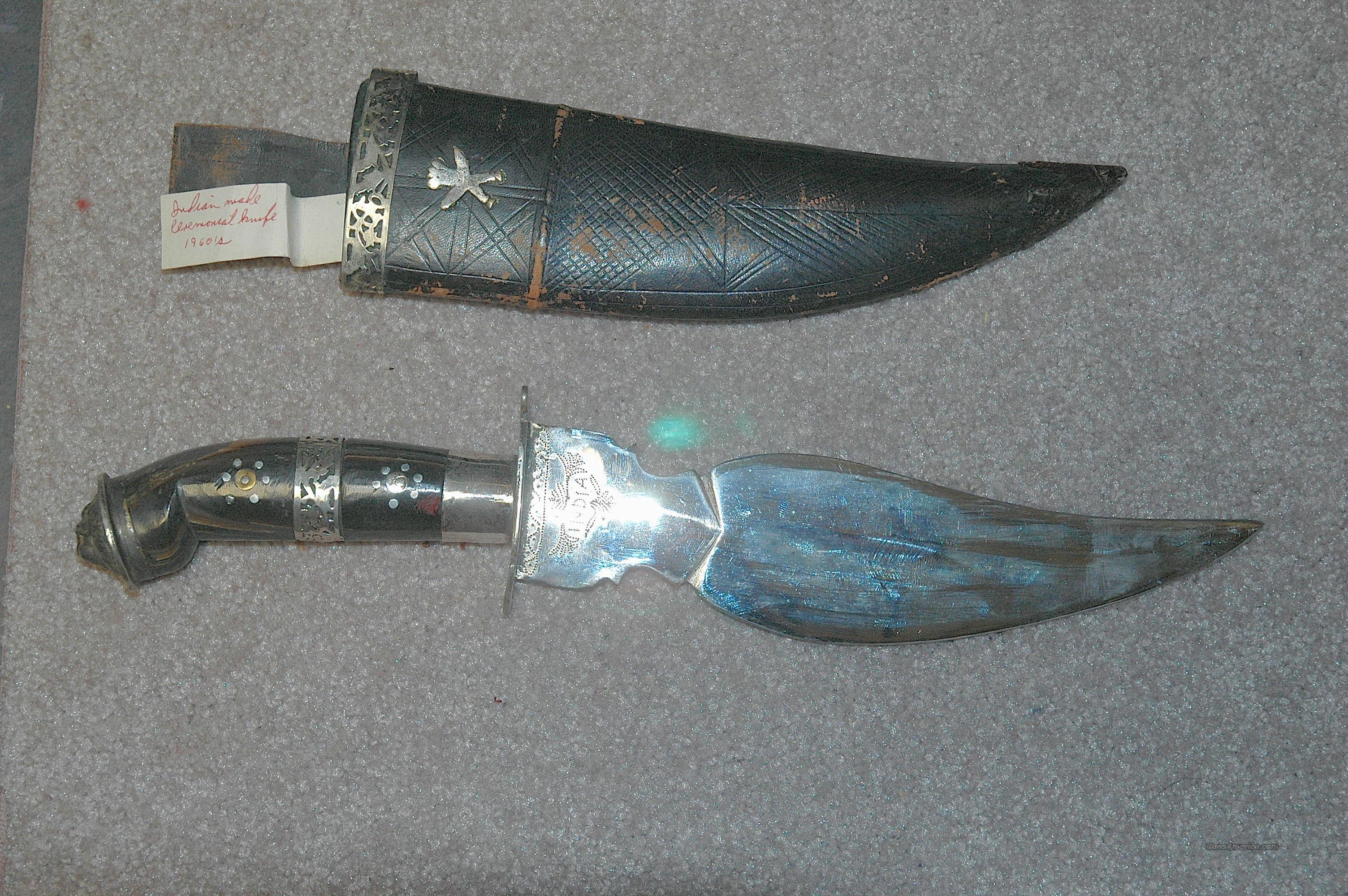 Indian made Ceremonial Knife  Non-Guns > Knives/Swords > Knives > Fixed Blade > Hand Made
