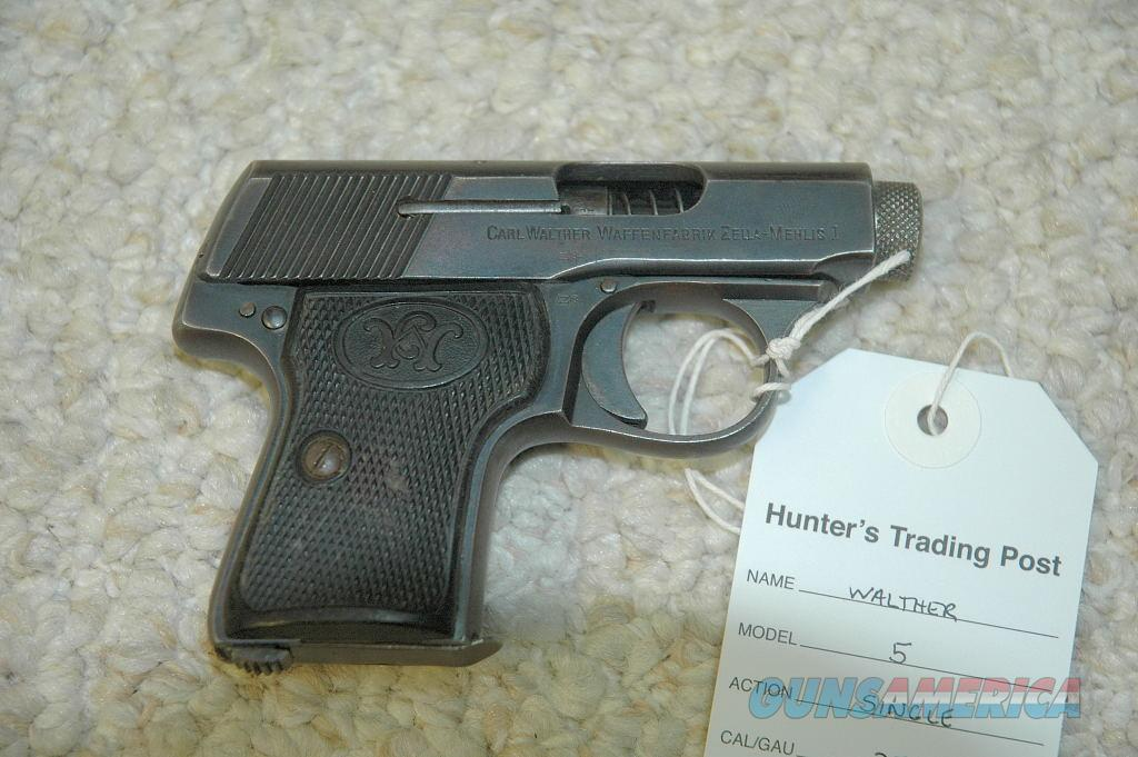 Walther model 5 (25 ACP)  Guns > Pistols > Walther Pistols > Pre-1945 > Other