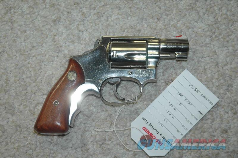 S&W 37 Airweight Mfg 1981 Nickled  Guns > Pistols > Smith & Wesson Revolvers > Small Frame ( J )