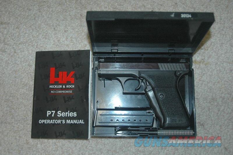H&K P7 9MM Mfg 1983  Guns > Pistols > Heckler & Koch Pistols > SteelFrame