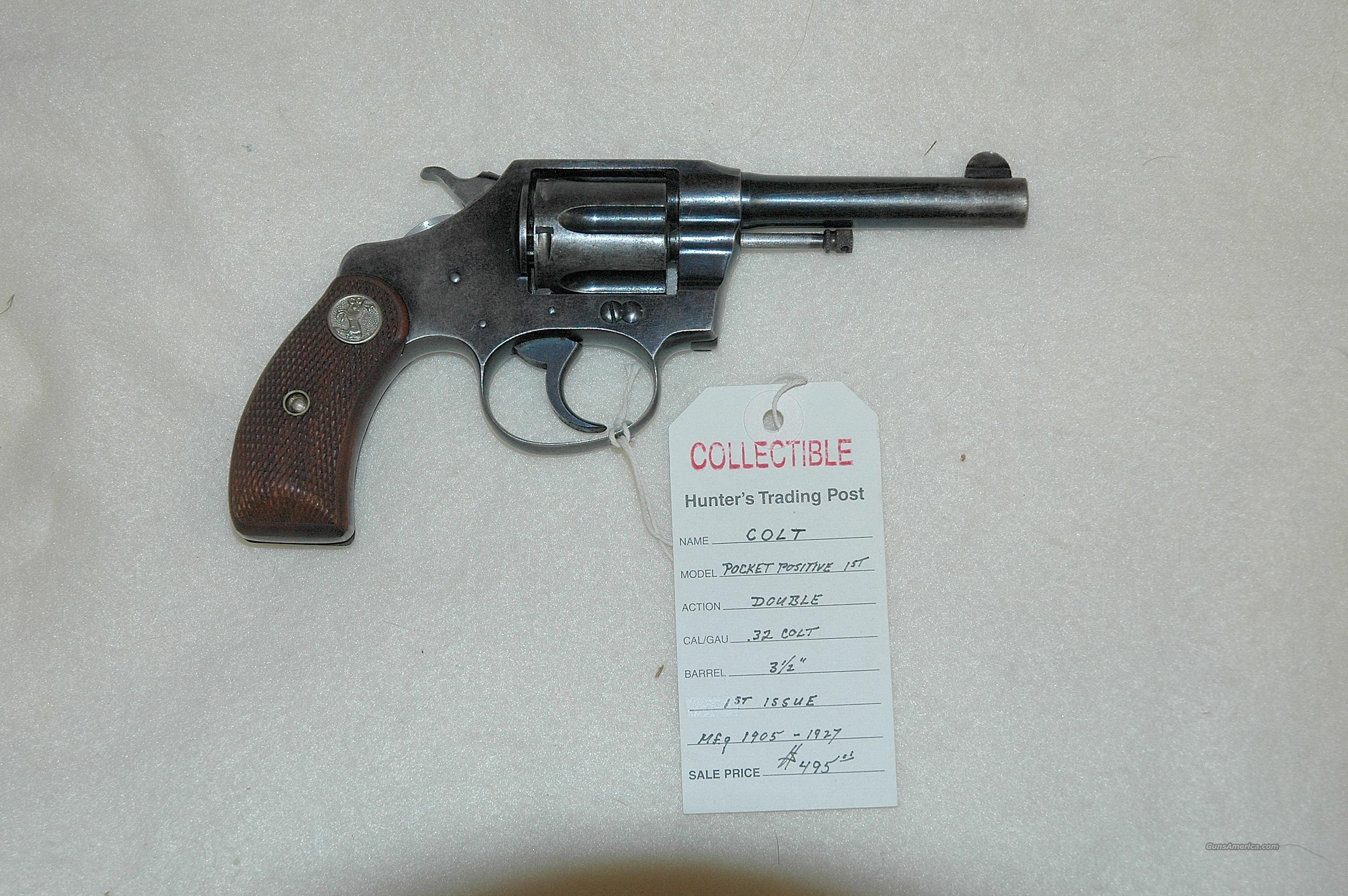 Colt Pocket Positive 1st 1909-1910  Guns > Pistols > Colt Double Action Revolvers- Pre-1945
