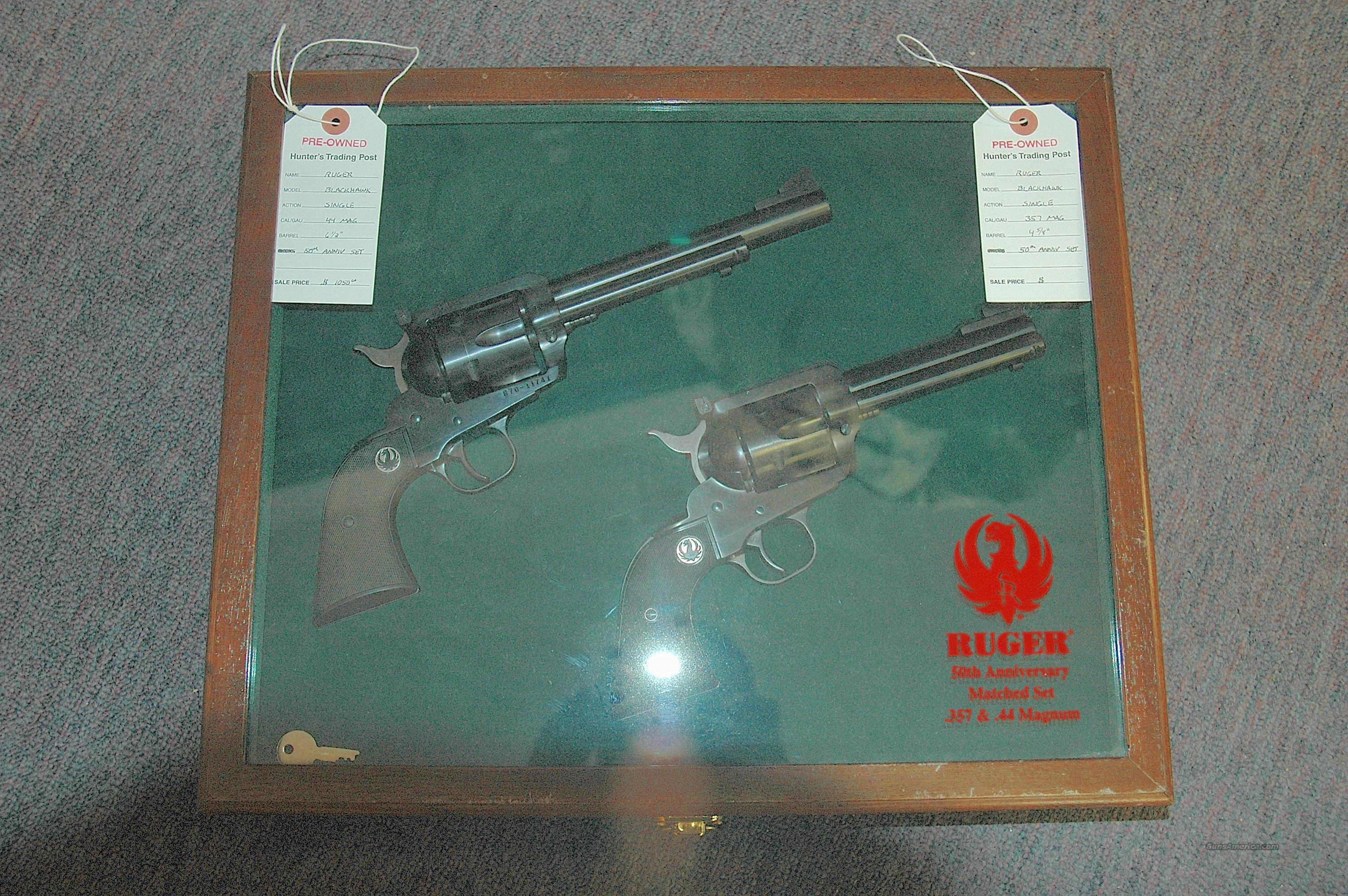 Ruger Black Hawk 50th Anniversary Set Matched Set  Guns > Pistols > Ruger Single Action Revolvers > Blackhawk Type