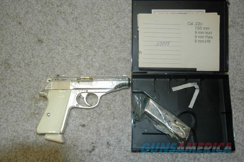 Walther PP Silver Engraved 380 ACP  Guns > Pistols > Walther Pistols > Post WWII > PPK Series