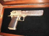 DESERT EAGLE ENGRAVED  50 FULLY ENGRAVED NICKEL  Guns > Pistols > Desert Eagle/IMI Pistols > Desert Eagle