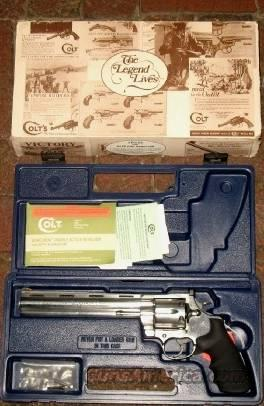 "COLT ANACONDA RARE 8"" SS LIKE NEW IN BOX  Guns > Pistols > Colt Double Action Revolvers- Modern"