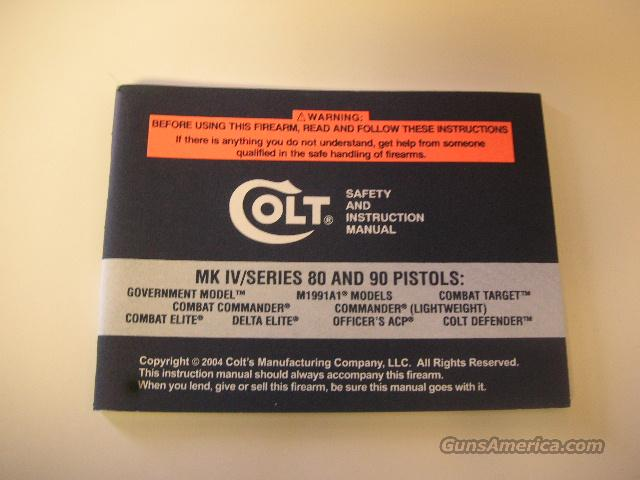 COLT 1911 STYLE MANUAL  FREE SHIP  Non-Guns > Manuals - Print