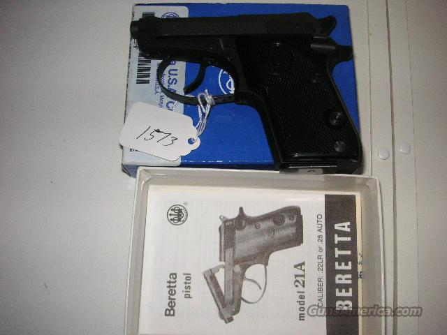 21A Tip Up 25cal New in Box  Guns > Pistols > Beretta Pistols > Small Caliber Tip Out