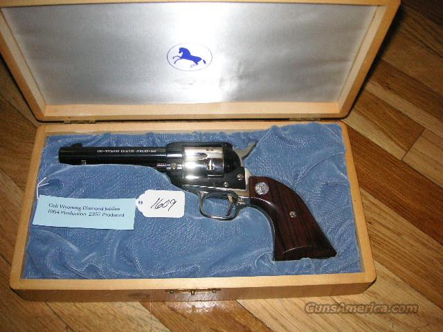 Wyoming Diamond Jubilee SAA Scout New Unfired Cased 1964  Guns > Pistols > Colt Single Action Revolvers - Modern (22 Cal.)
