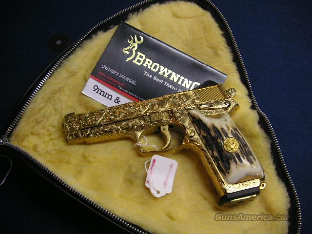 Browning Hi Power RENAISSANCE Style 100% Engraved GOLD  Guns > Pistols > Browning Pistols > Hi Power