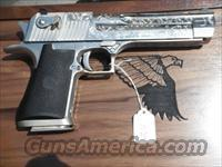 50AE NICKEL FULLY ENGRAVED/CASED MASS OK  Desert Eagle/IMI Pistols > Desert Eagle