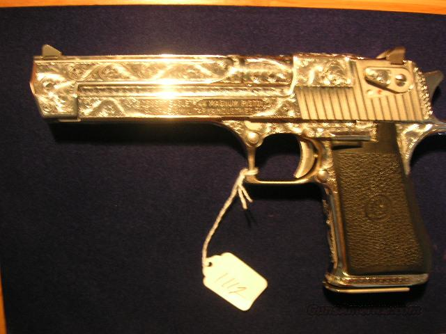 DESERT EAGLE 44 FULLY ENGRAVED NICKEL  Guns > Pistols > Desert Eagle/IMI Pistols > Desert Eagle