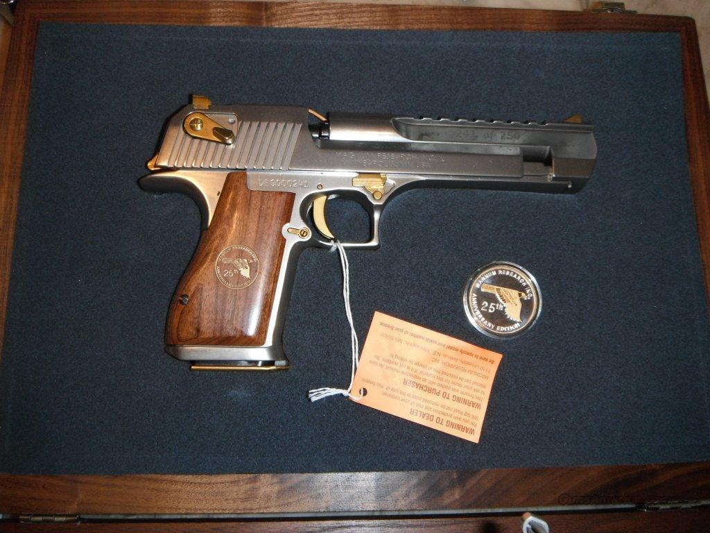 DESERT EAGLE 25TH ANNIVERSARY 50AE WOOD CASE  Guns > Pistols > Desert Eagle/IMI Pistols > Desert Eagle