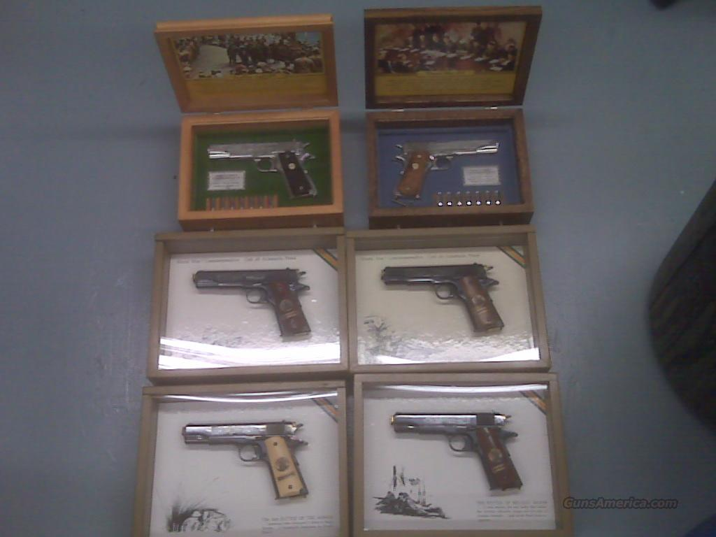 WW1 and WW2 colt 1911 6 total   Guns > Pistols > Colt Commemorative Pistols