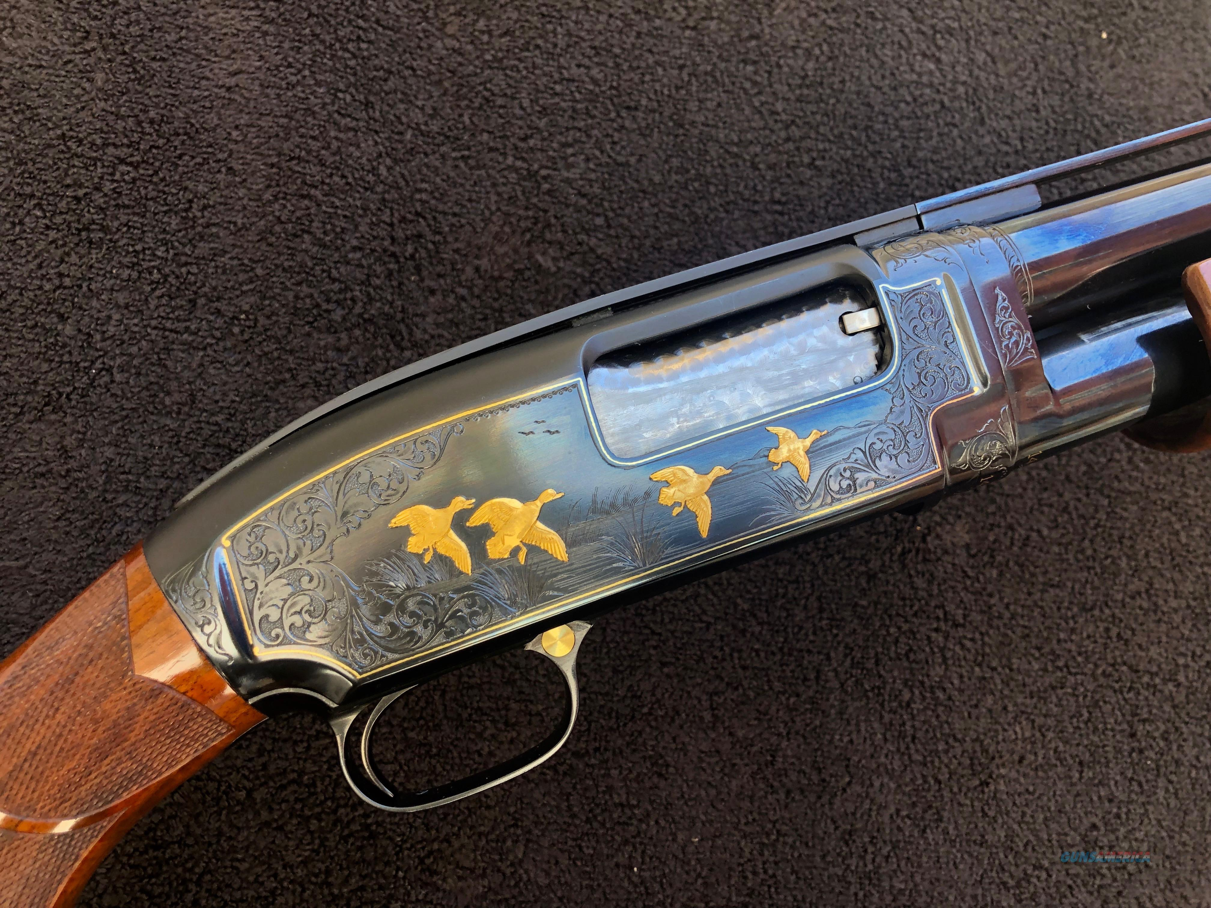 Winchester Model 12 Custom Angelo Bee Engraved  Guns > Shotguns > Winchester Shotguns - Modern > Pump Action > Trap/Skeet