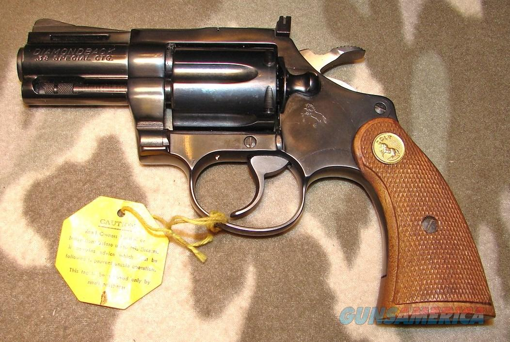 Colt Diamondback .38 Spl.  Guns > Pistols > Colt Double Action Revolvers- Modern