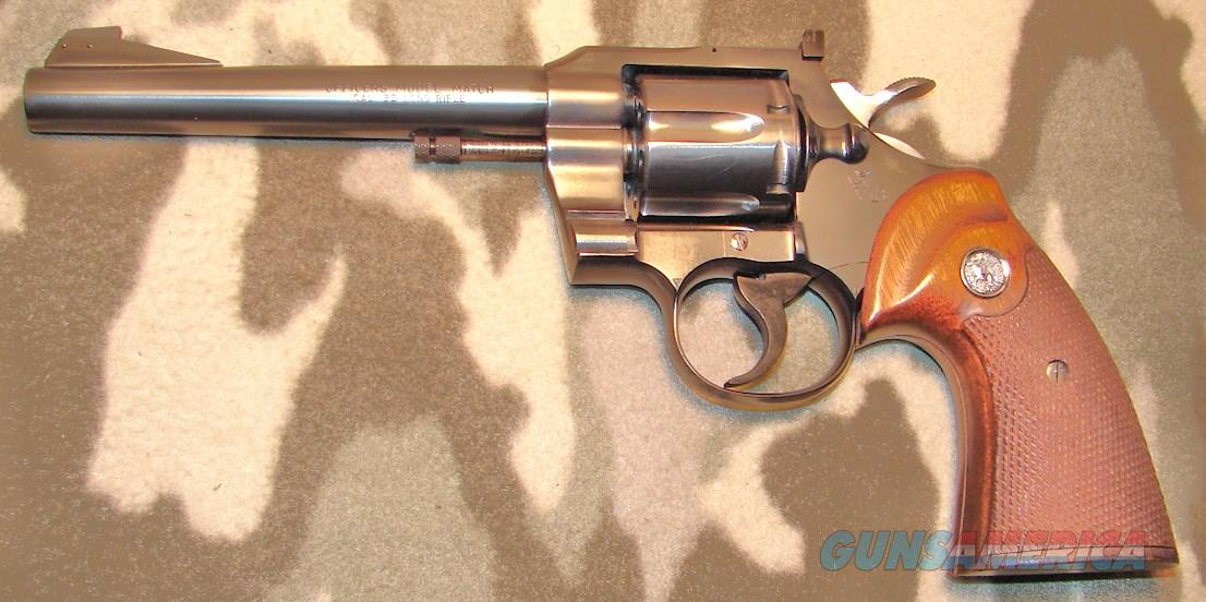 Colt Officers Model Match 5th issue  Guns > Pistols > Colt Double Action Revolvers- Modern