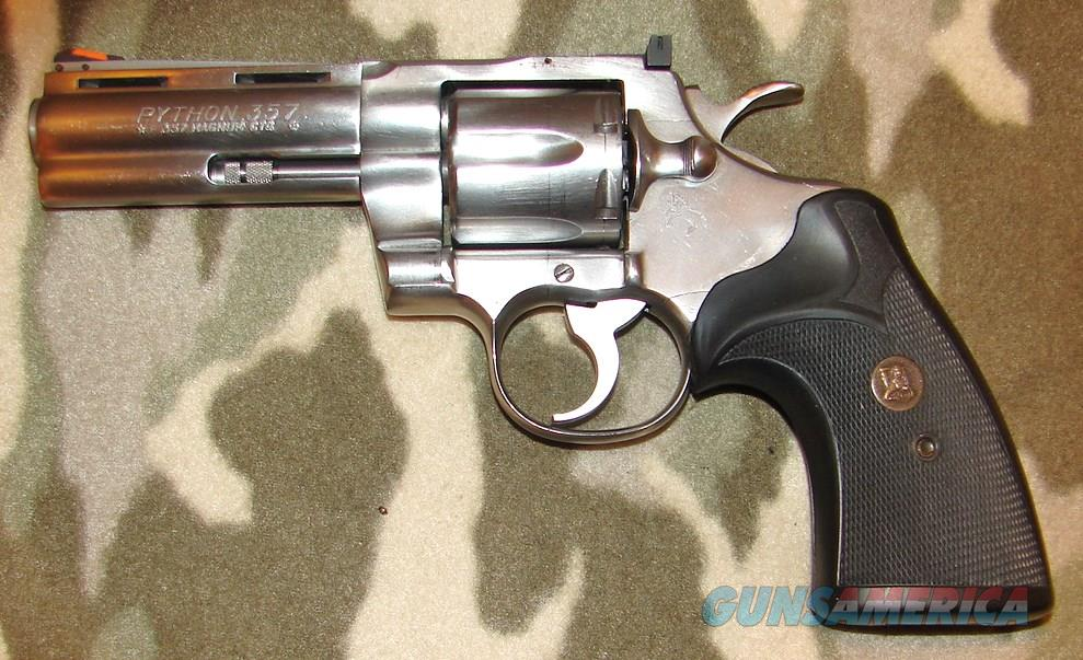 "Colt Python 4"" Stainless  Guns > Pistols > Colt Double Action Revolvers- Modern"