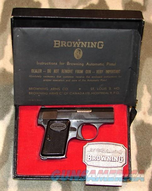 Baby Browning Pistol  Guns > Pistols > Browning Pistols > Baby Browning