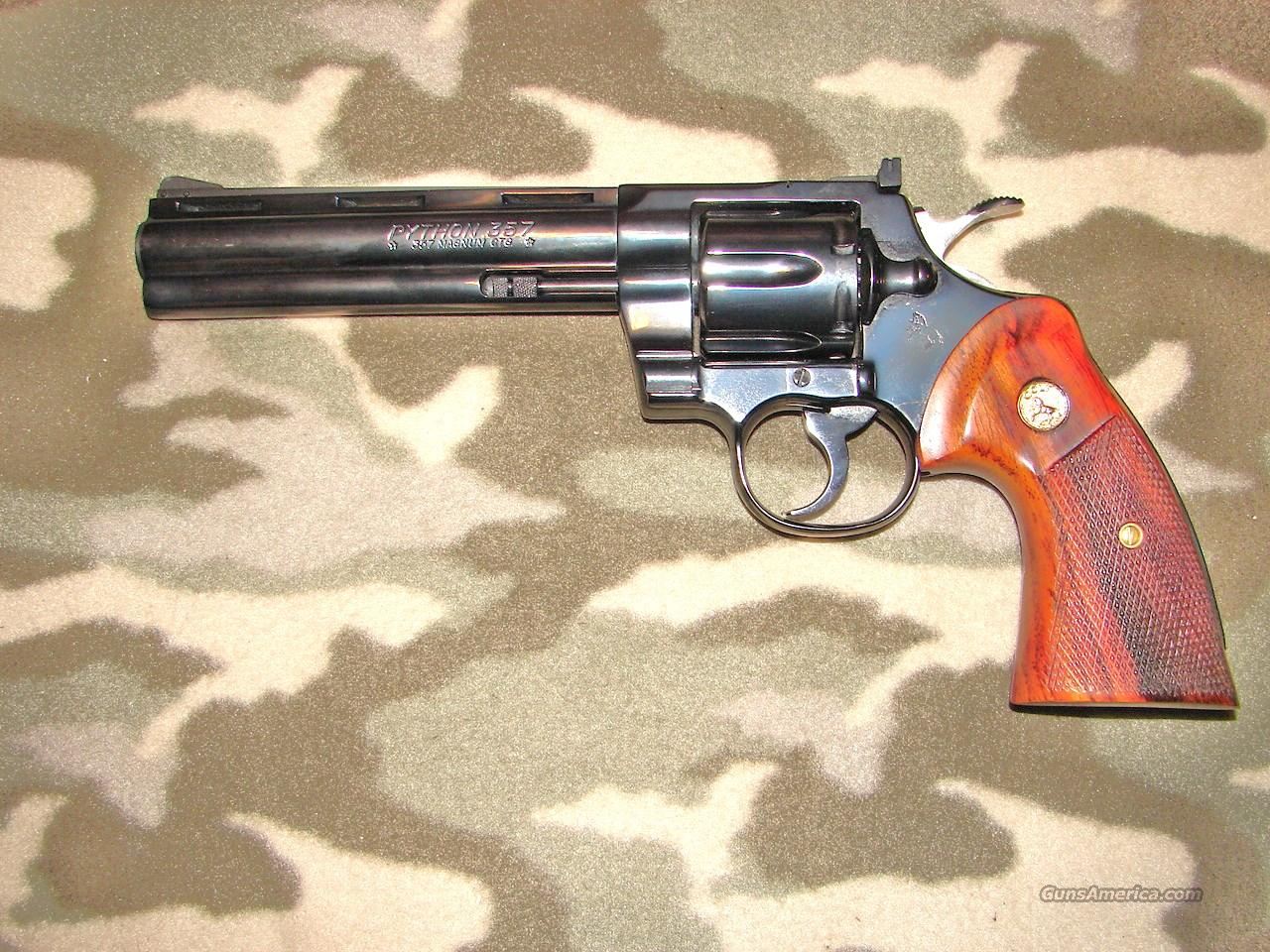 """Colt Python 8"""" .38 Blue  Guns > Pistols > Colt Double Action Revolvers- Modern"""