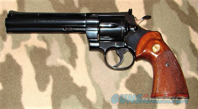 """Colt Python 6"""" Blue  Guns > Pistols > Colt Double Action Revolvers- Modern"""