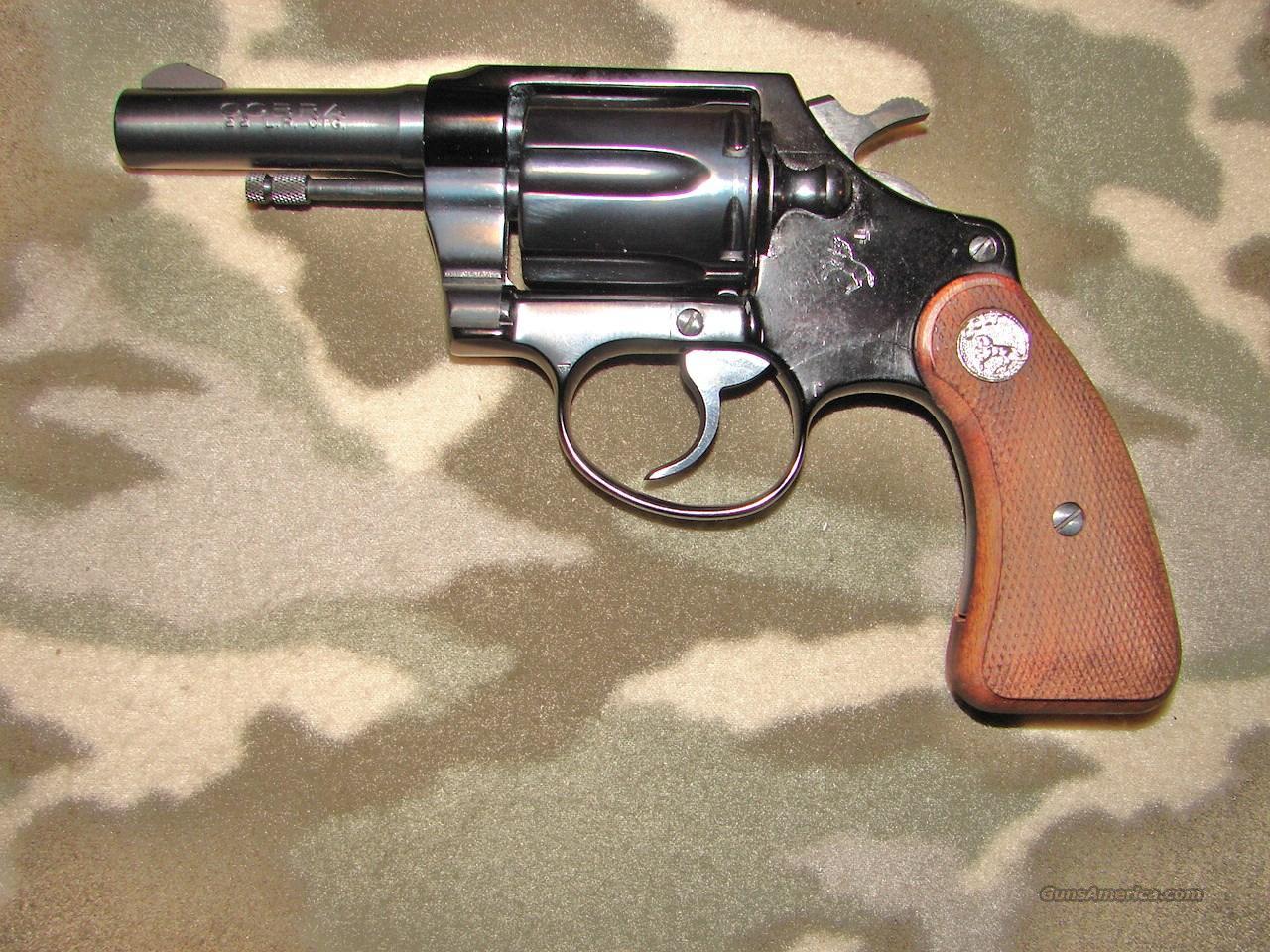 Colt Cobra 1st  issue .22 lr  Guns > Pistols > Colt Double Action Revolvers- Pre-1945