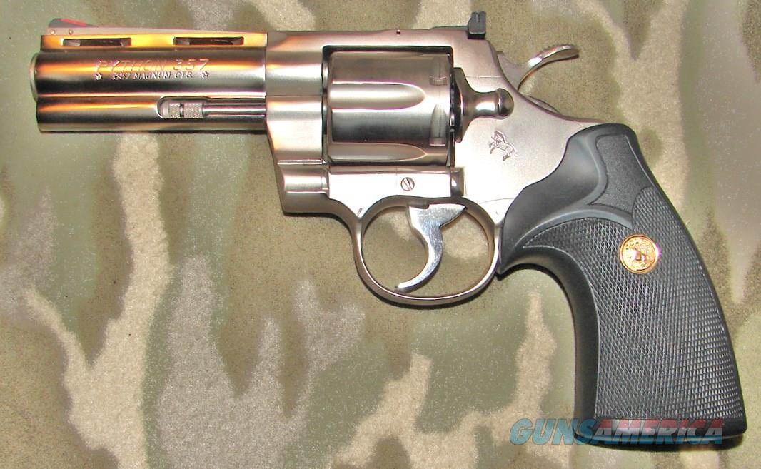 "Colt Python 4"" Stainless Steel   Guns > Pistols > Colt Double Action Revolvers- Modern"