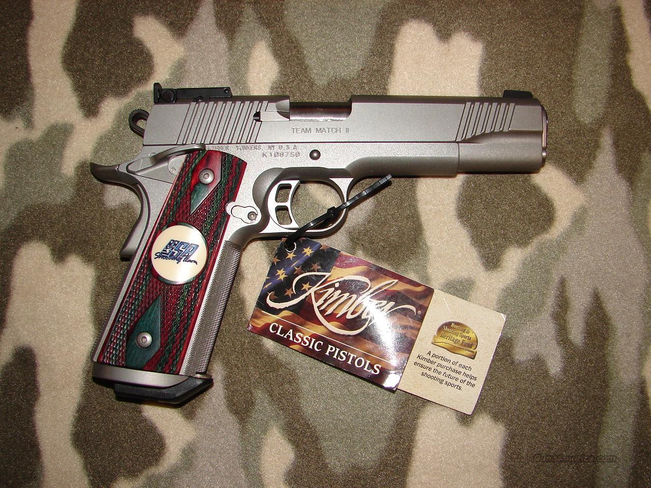 Kimber Team Match II   Guns > Pistols > Kimber of America Pistols