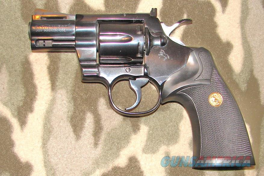 "Colt Python 2 ½"" Royal Blue  Guns > Pistols > Colt Double Action Revolvers- Modern"