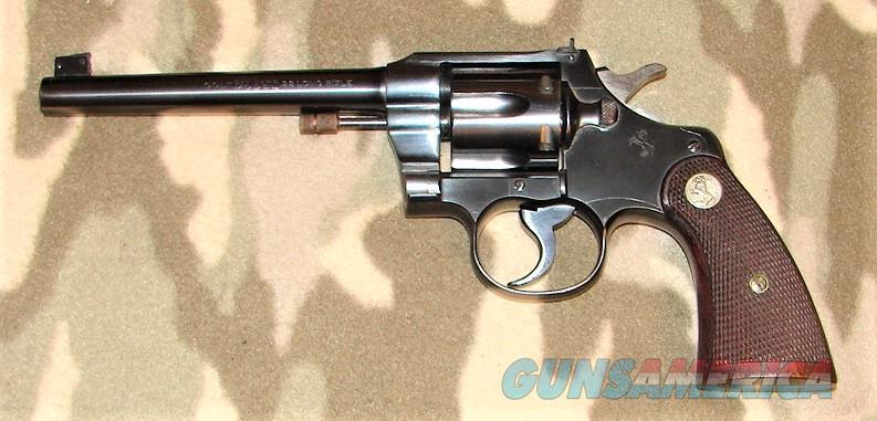 Colt Officers Model Target Revolver  Guns > Pistols > Colt Double Action Revolvers- Pre-1945