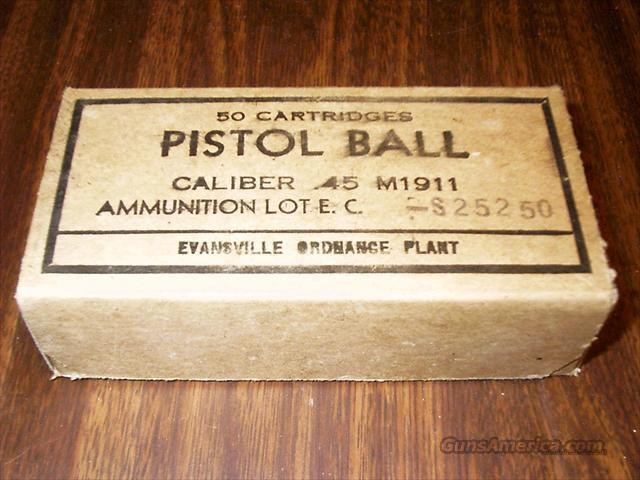 WWII 45 PISTOL BALL AMMO  Non-Guns > Ammunition