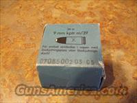 Swedish 9mm KPTR M/39 Gallery Practice Ammo  Non-Guns > Ammunition