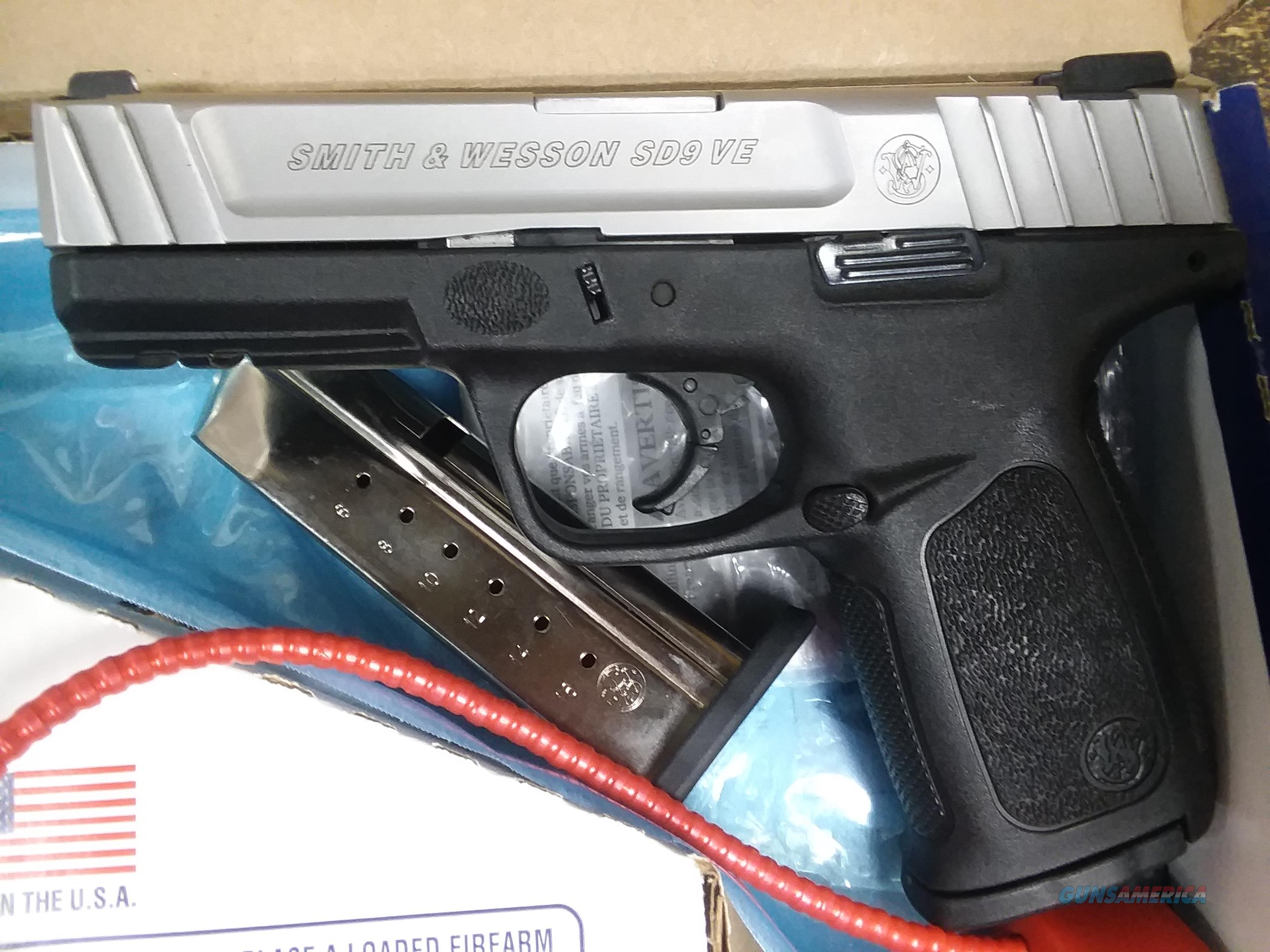 S & W SD 9 VE 9 MM  Guns > Pistols > Smith & Wesson Pistols - Autos > Polymer Frame