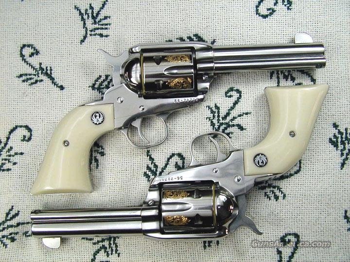 Matched Pair Factory Engraved 44 Vaqueros Li For Sale