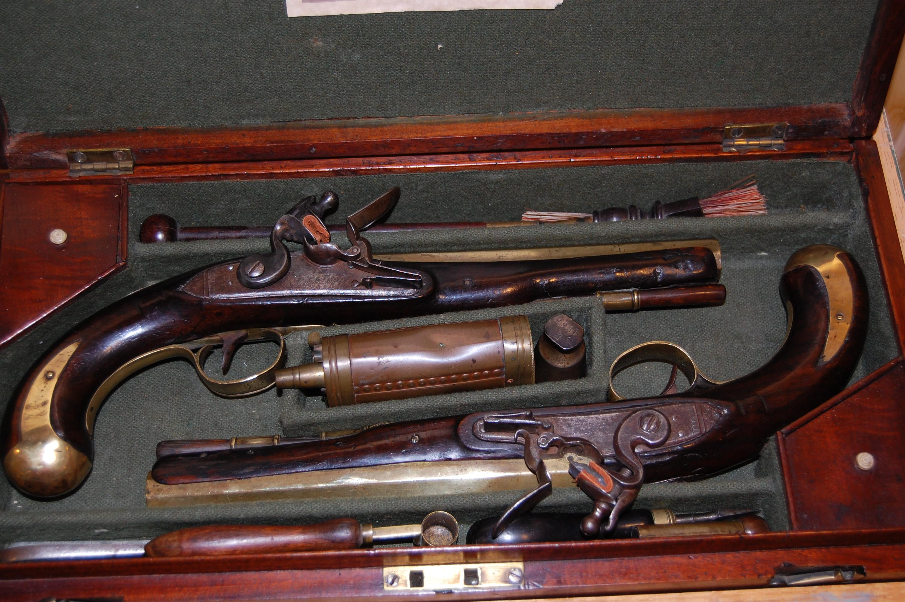Cased Flintlocks   Guns > Pistols > Antique (Pre-1899) Pistols - Perc. Misc.