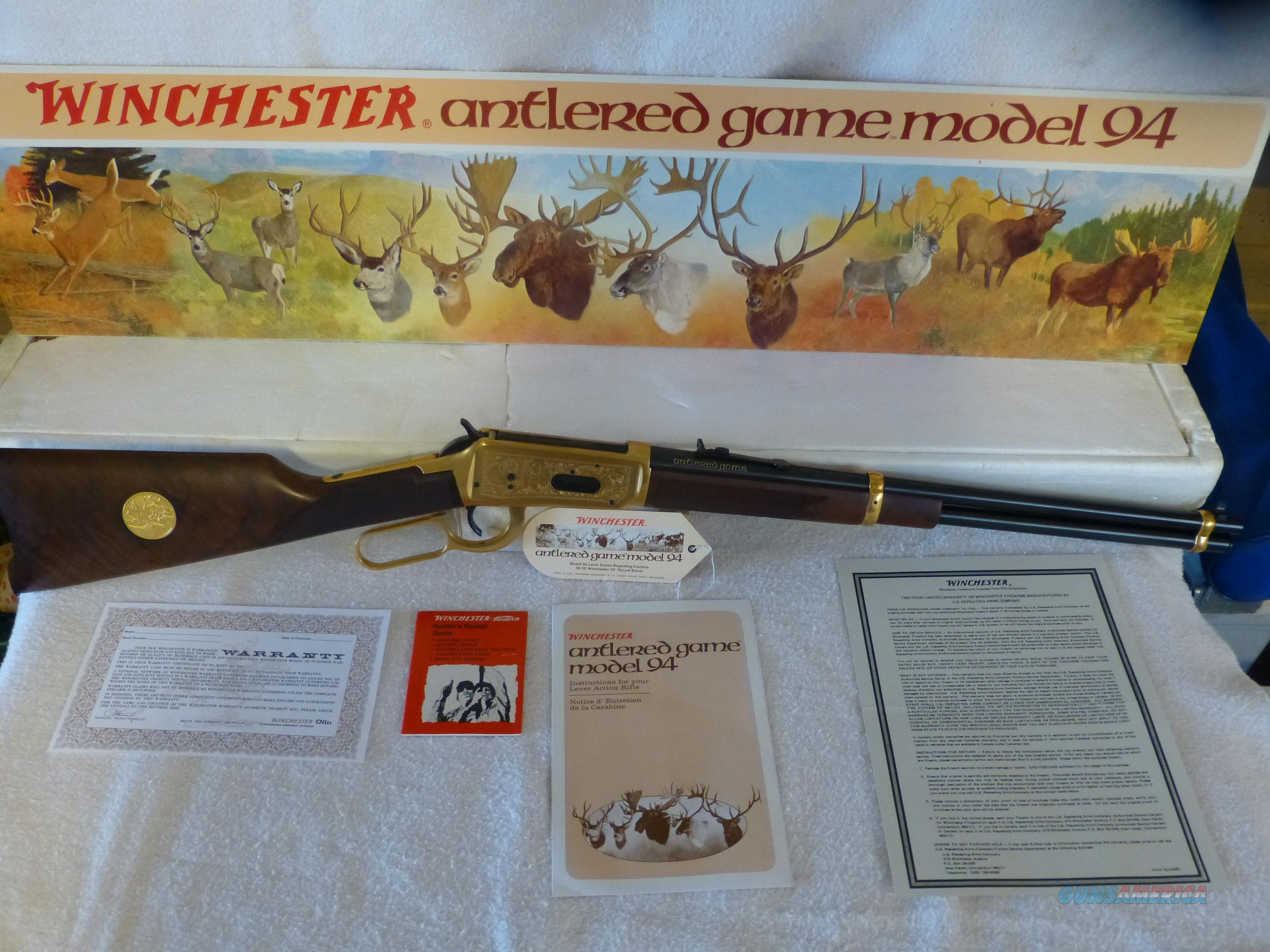 Winchester Antlered Game Model 94  Guns > Rifles > Winchester Rifle Commemoratives