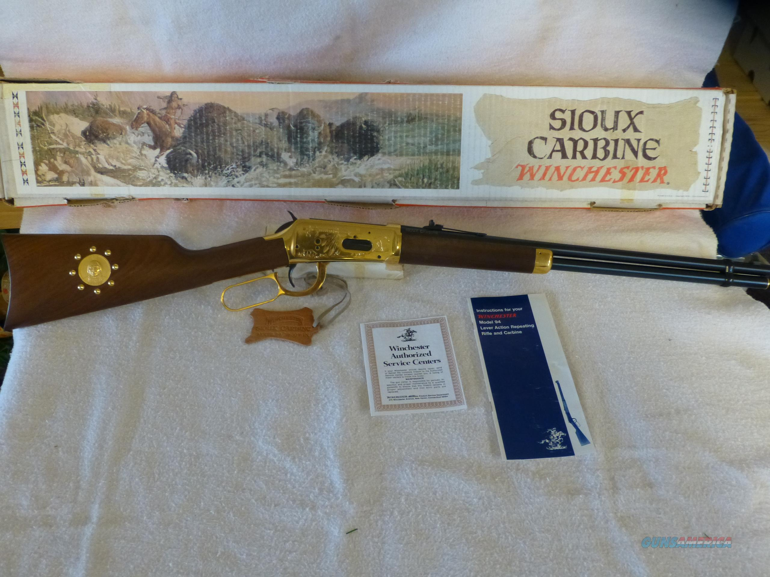 Winchester Sioux Carbine   Guns > Rifles > Winchester Rifle Commemoratives