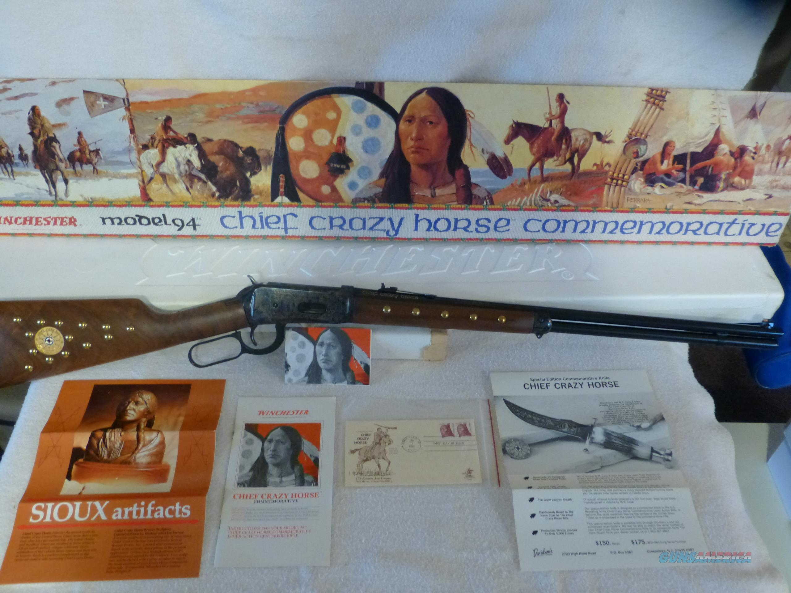 Winchester 1894 Chief Crazy Horse Commemorative  Guns > Rifles > Winchester Rifle Commemoratives