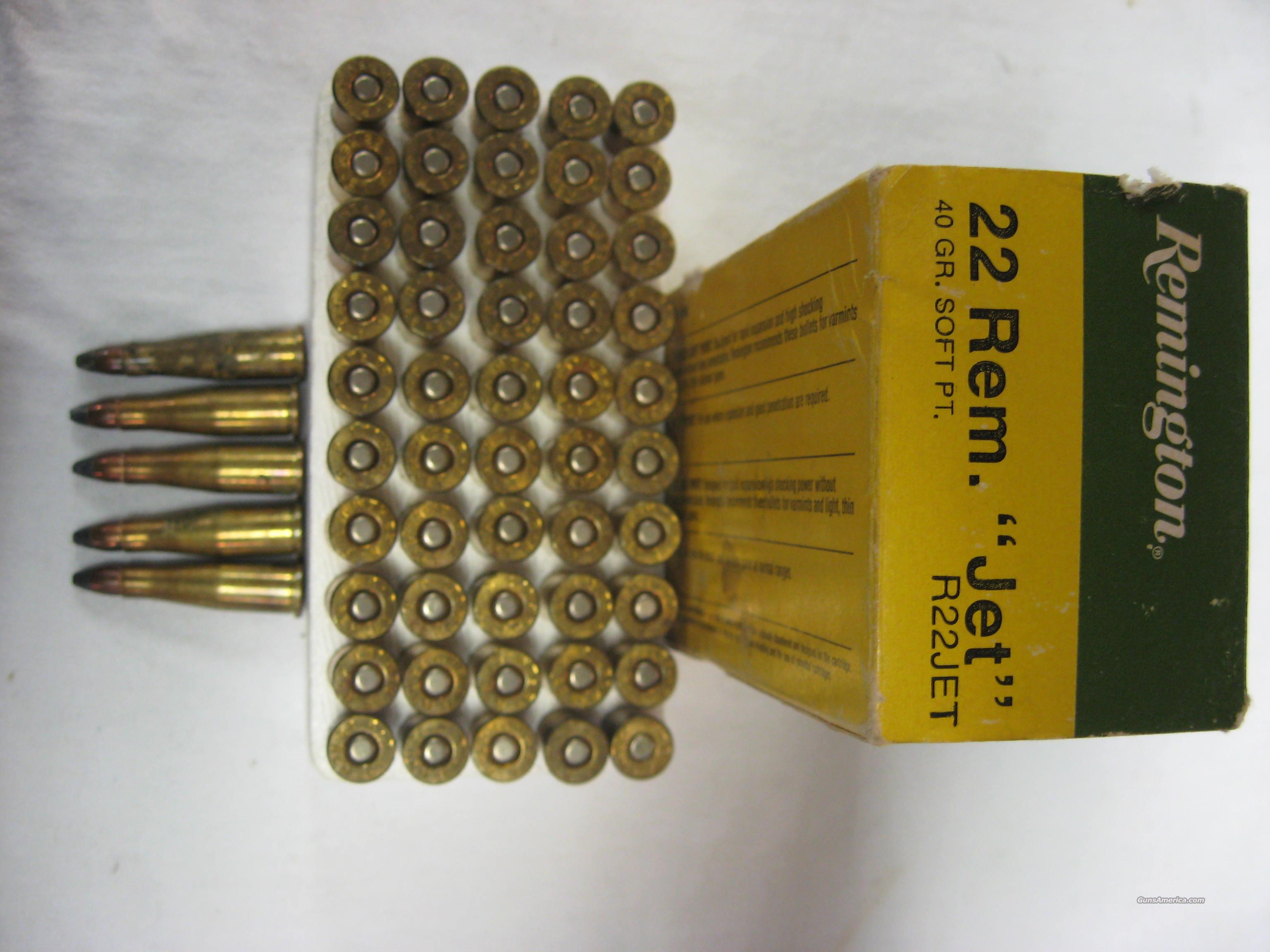 Remington 22 Jet ammo  Non-Guns > Ammunition