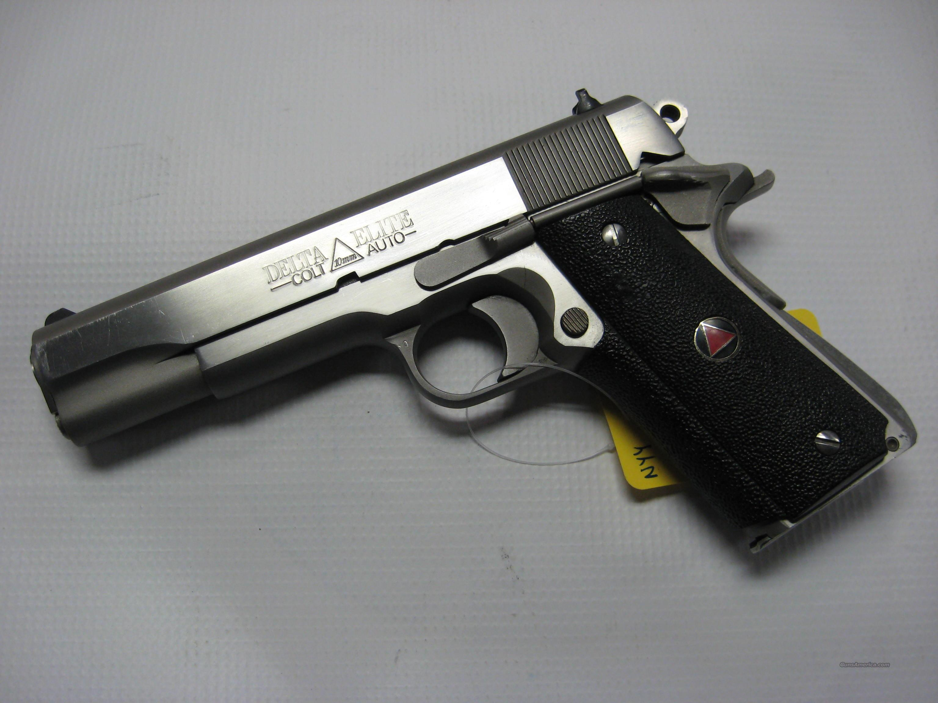 Stainless Colt Delta Elite in 10mm  Guns > Pistols > Colt Automatic Pistols (1911 & Var)