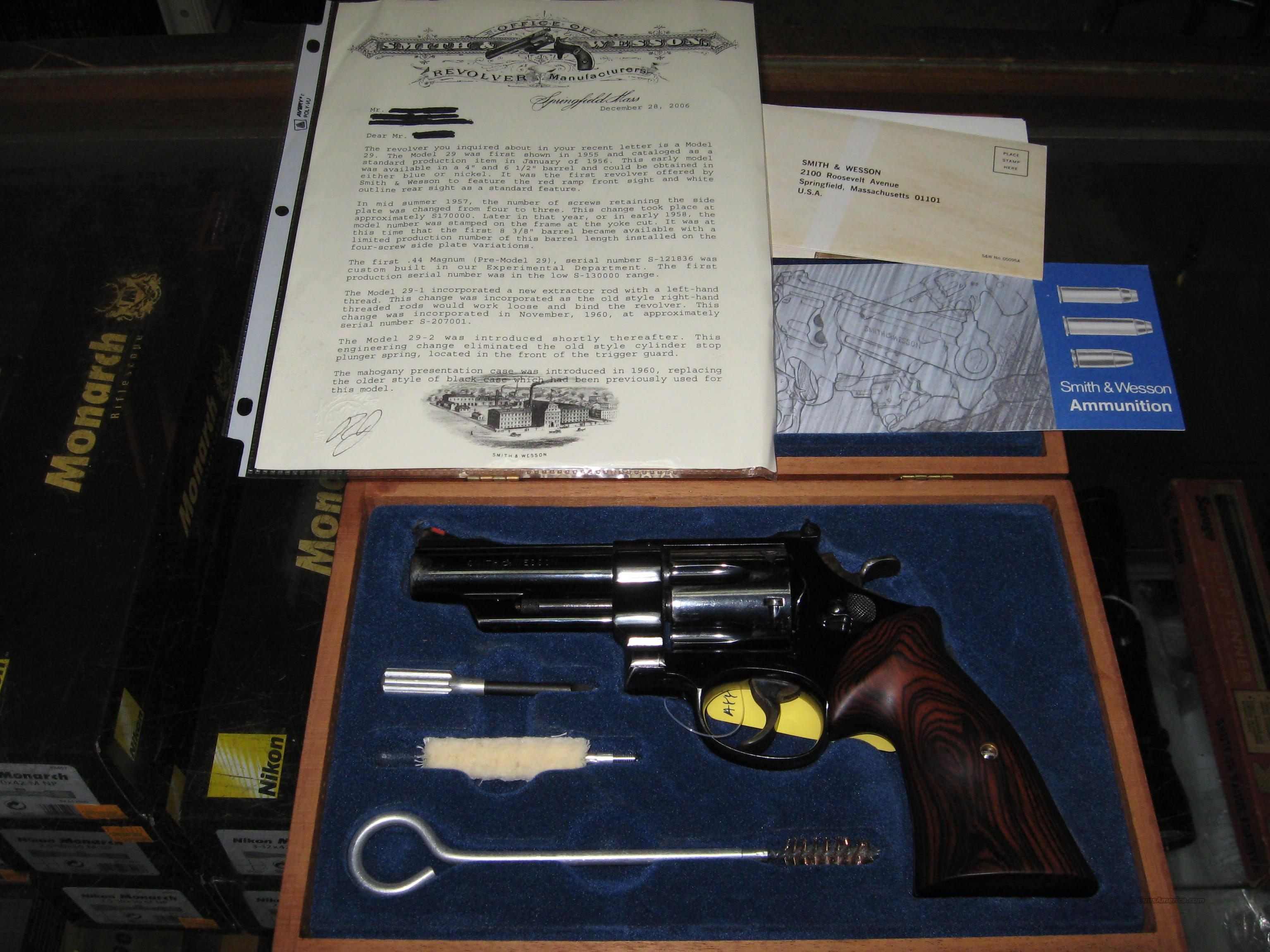 Smith and Wesson Pre model 29 four screw in 44 Mag  Guns > Pistols > Smith & Wesson Revolvers > Full Frame Revolver