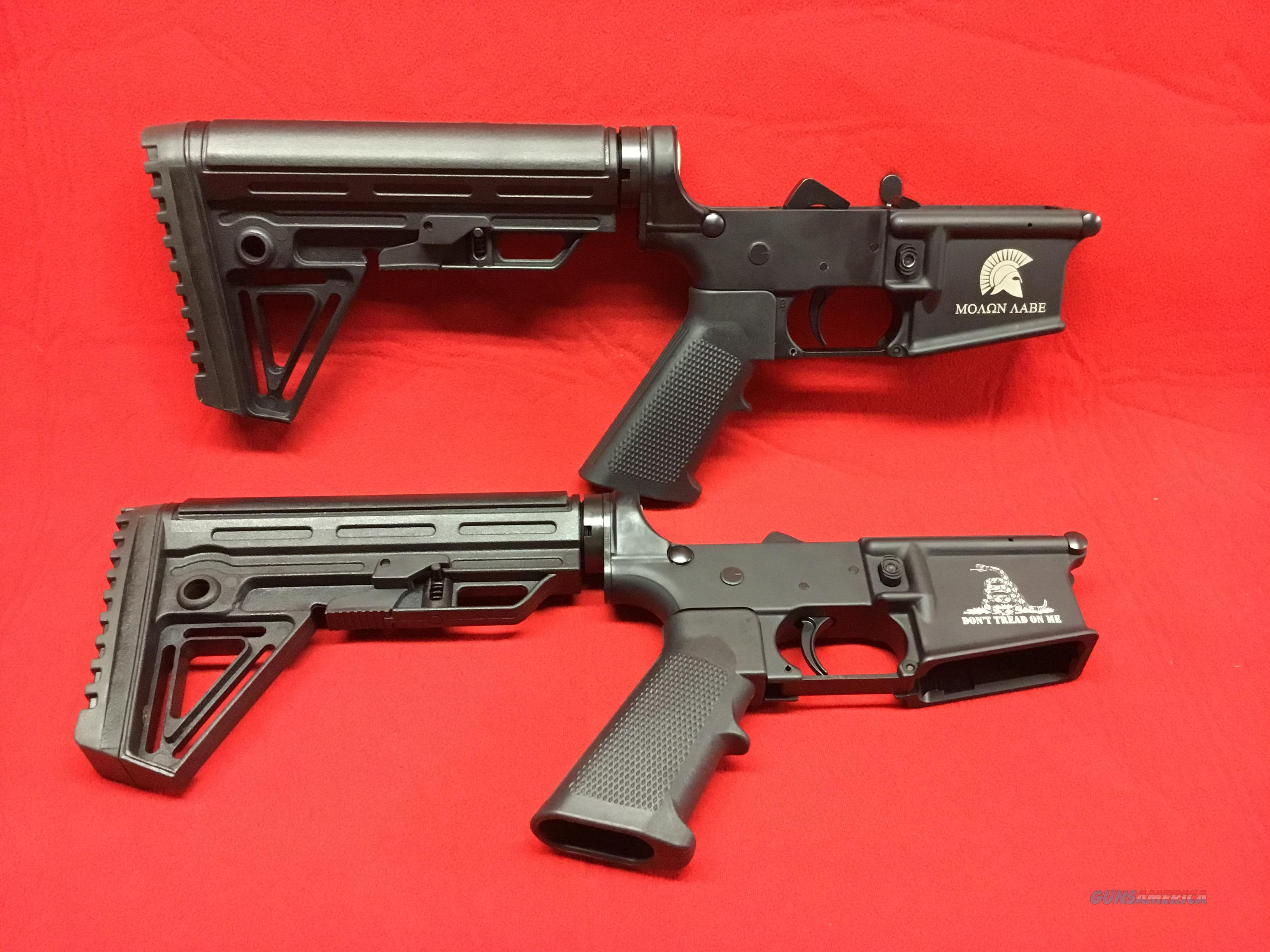 TWO    Anderson  Complete  Lowers  with Stocks  and Engraved  Guns > Rifles > AR-15 Rifles - Small Manufacturers > Lower Only
